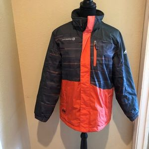 Free Country Orange and Grey Puffy Jacket
